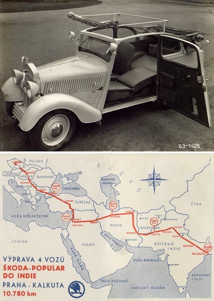 SKODA in Indien – 85. Jubiläum der Fernfahrt nach Kalkutta im SKODA POPULAR