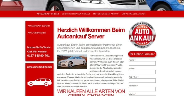 Unfallwagen Gebrauchtwagen Ankauf