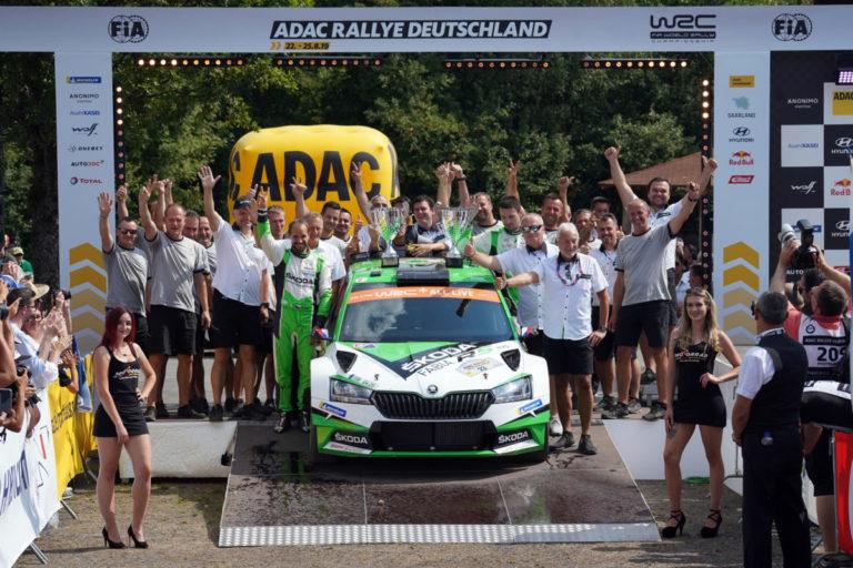 ADAC Rallye Deutschland: Jan Kopecký und Pavel Dresler gewinnen WRC 2 Pro-Kategorie für SKODA
