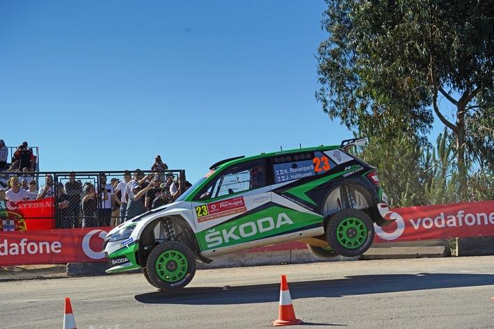 ADAC Rallye Deutschland: SKODA Werksfahrer Rovanperä und Kopecký peilen in der WRC 2 Pro-Kategorie dritten Doppelsieg der Saison an