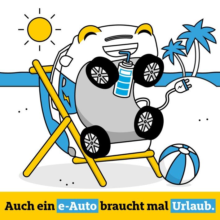 Auch ein Elektroauto braucht mal Urlaub Perfekt für lange Urlaubsfahrten: Nutzer der ADAC e-Charge Karte bekommen 5 % Rabatt auf Clubmobile der ADAC Autovermietung