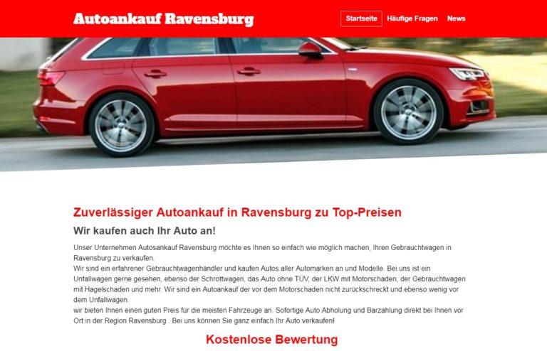 Autoankauf Ravensburg, Gebrauchtwagen verkaufen – Ihr Spezialist für den Ankauf