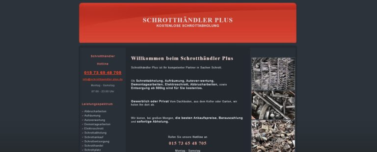 Die Abholung von Schrott blickt auch in Duisburg auf eine lange Geschichte zurück