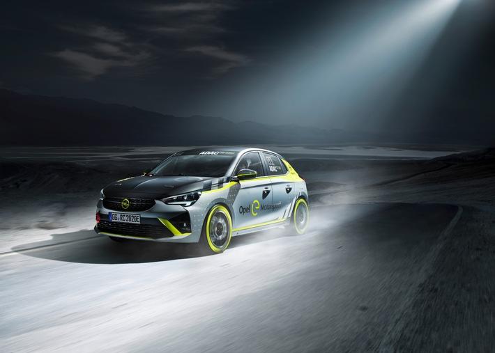 Opel präsentiert als erster Hersteller ein elektrisches Rallyeauto