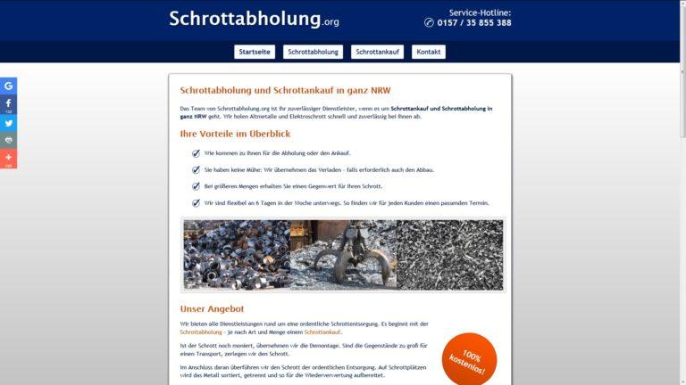 Schrottabholung.org in NRW