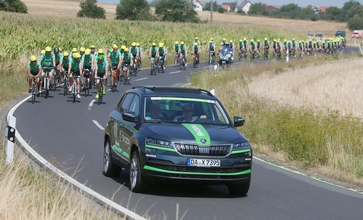 SKODA AUTO Deutschland fördert erneut die Tour der Hoffnung