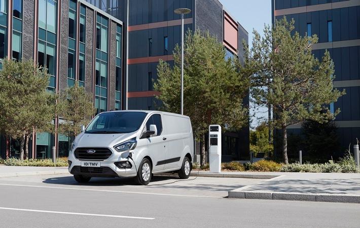 Ford Transit Custom und Tourneo Custom jetzt als Plug-in-Hybrid: emissionsfreier Elektroantrieb und große Reichweite
