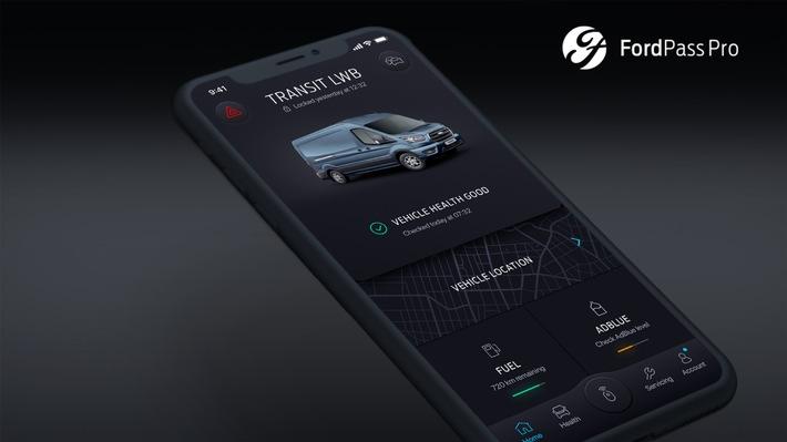 """Neue App """"FordPass Pro"""" vernetzt mit maximal fünf Ford-Fahrzeugen"""
