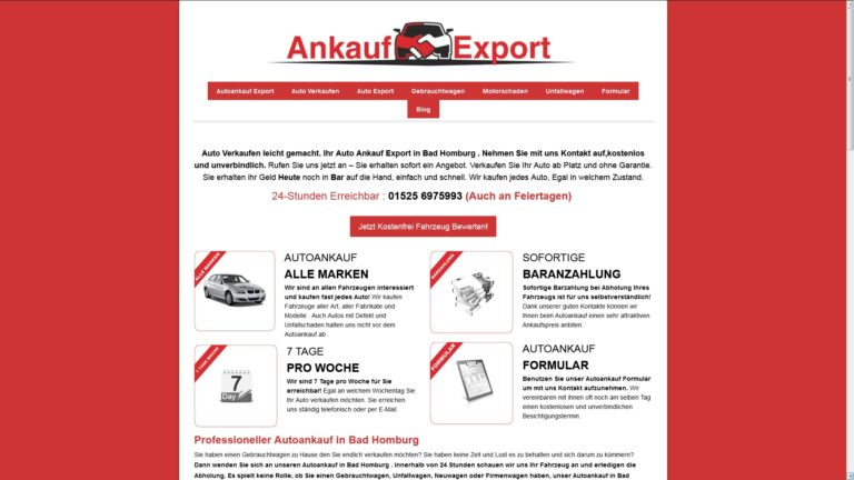 Autoankauf Mettmann bietet Tageshöchstpreise für ihr altes Fahrzeug