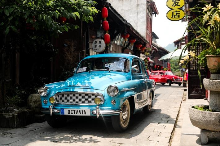 SKODA zeigt historische Fahrzeuge bei Oldtimer-Veranstaltungen in China