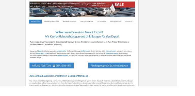 Autoankauf Gummersbach holt ihr Altfahrzeug auch ab bei nicht fahrtüchtigen PKW