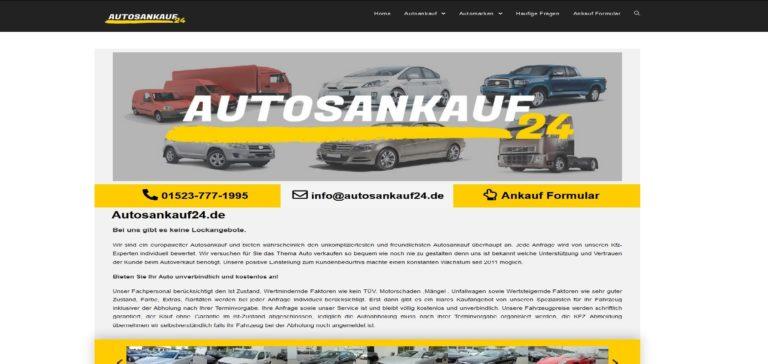Autosankauf24.de ist Ihr faire Partner in Sachen Autoankauf