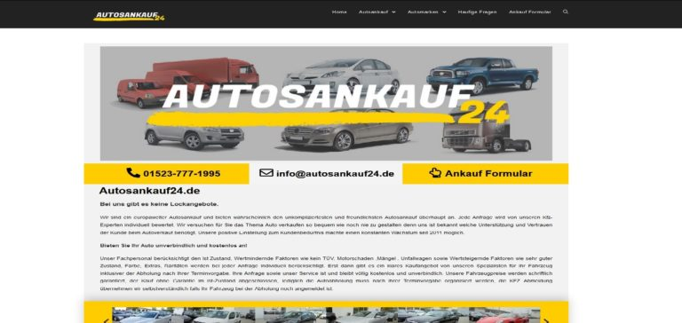 Autosankauf24.de – KFZ Ankauf – Ihr kompetenter Partner in Sachen Autoverkauf