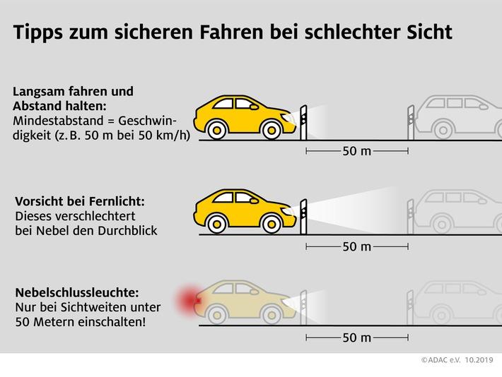 Nebel: Tagfahrlicht allein reicht nicht aus Tipps zum sicheren Fahren bei schlechter Sicht