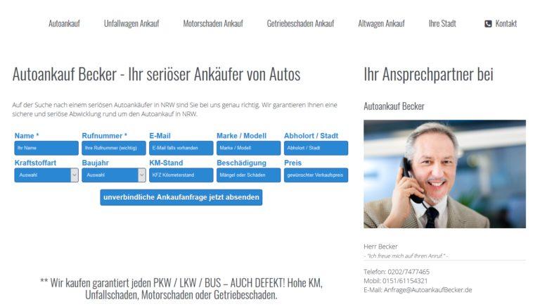 Ihr Auto verkaufen bei Autoankauf Becker Duisburg
