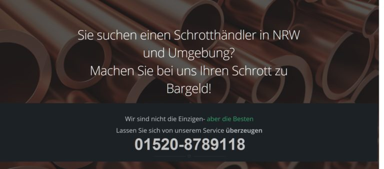 Kostenlose Schrottabholung in Krefeld für private und gewerbliche Kunden. Privat und Gewerbe!