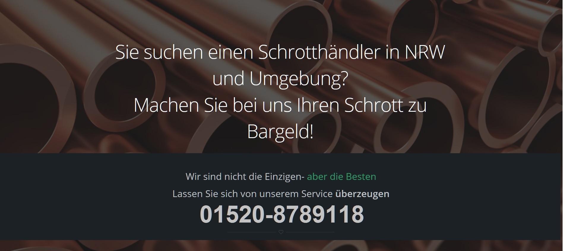 Kostenlose Schrottabholung in Krefeld für private und gewerbliche Kunden
