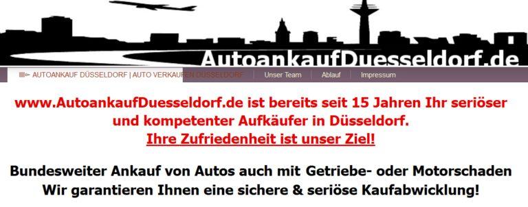 Autoankauf Düsseldorf-Auto verkaufen leicht gemacht