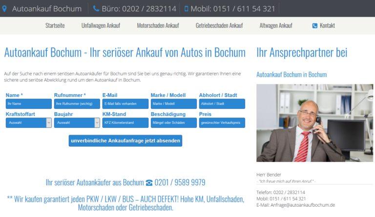 Autoankauf in Bochum   Wir kaufen Ihr Auto unkompliziert an!