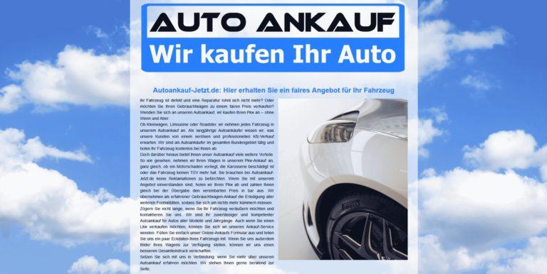 Autoankauf-Höchstpreise für Ihren Gebrauchtwagen