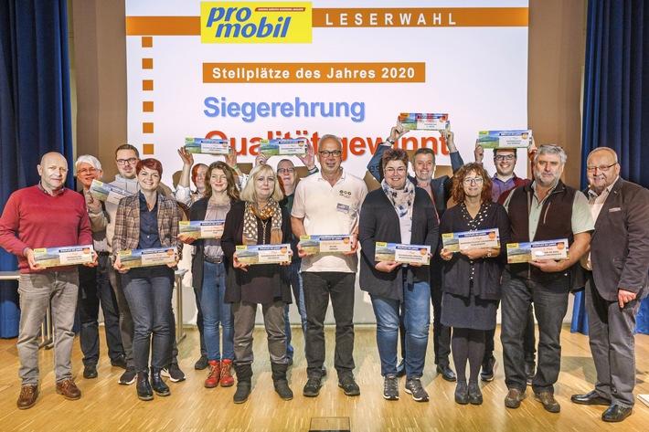 Das Reisemobil-Magazin PROMOBIL krönt die Stellplatz-Champions Deutschlands