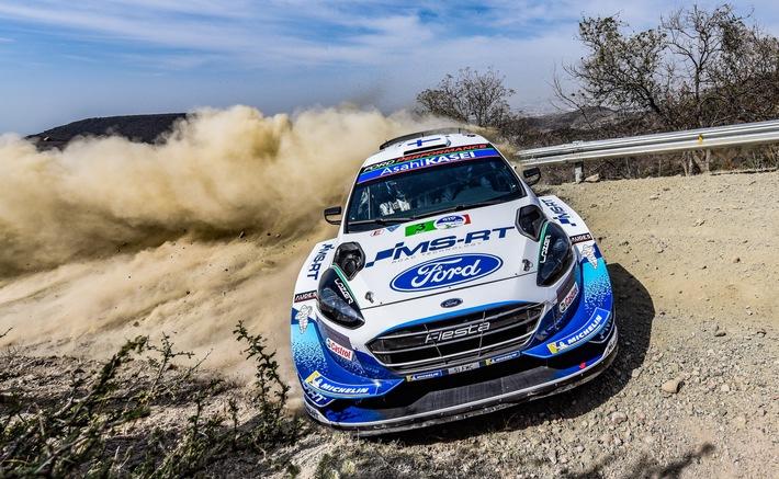 Podiumsergebnis für Teemu Suninen und den Ford Fiesta WRC bei der WM-Rallye Mexiko