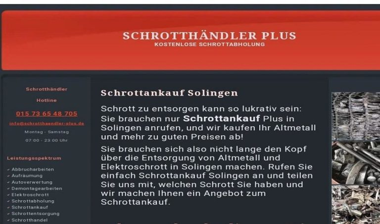 Schrottankauf Solingen / fairer Altmetall Ankauf