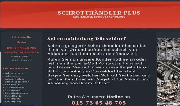 Schrotthändler Düsseldorf /Kostenlose Schrottabholung in Düsseldorf