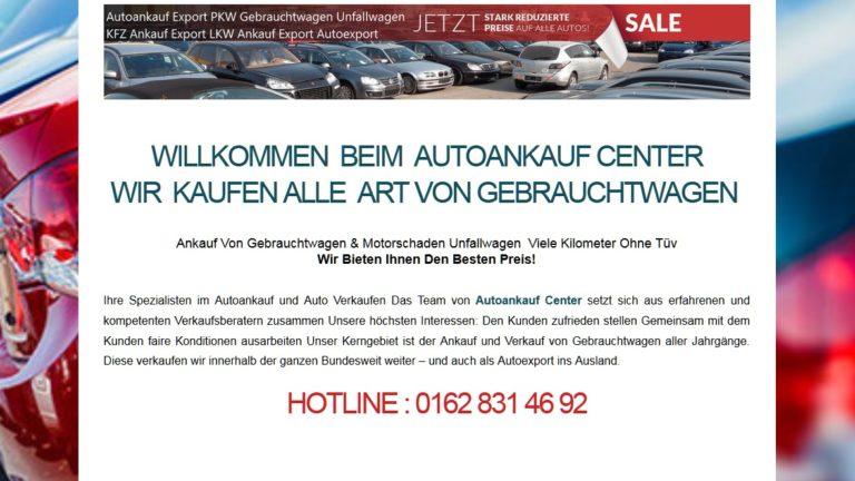 Autoankauf Mainz sucht Gebrauchtwagen mit Motorschaden, Unfall für den Export
