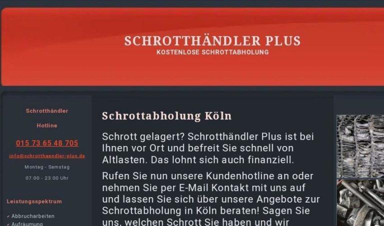 Kostenlose Abholung von Altmetall und Schrott in Köln und Umgebung