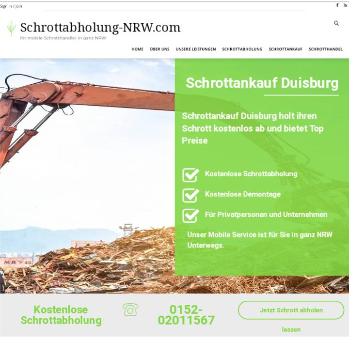 Unkomplizierte Schrottabholung und fairer Schrottankauf in Duisburg