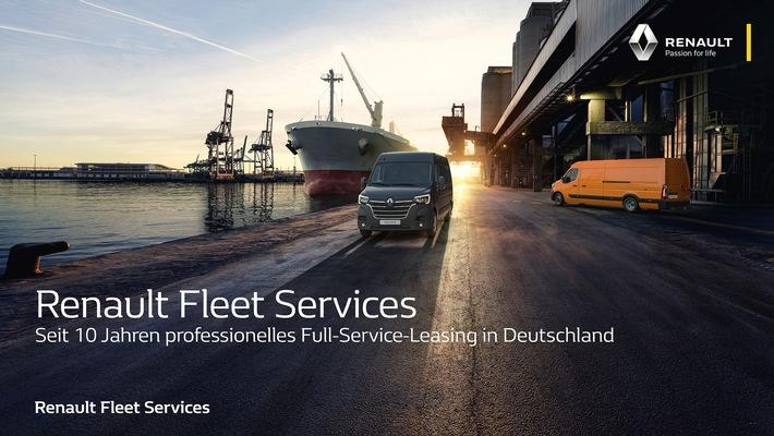 Renault Fleet Services: Seit 10 Jahren professionelles Full-Service-Leasing in Deutschland