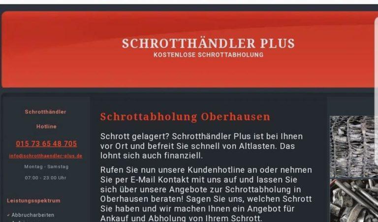 Kostenlos Schrottabholung in Oberhausen und Umgebung