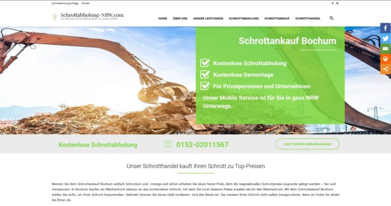 Schrotthändler | Mobile Schrotthändler in Nordrhein Westfalen 100% kostenlose Service!