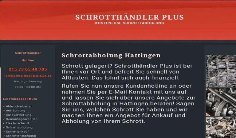 Schrottabholung in Hattingen durch_Schrotthändler-Plus