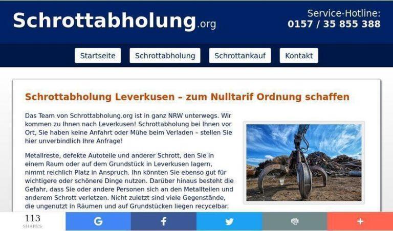 Das Team von Schrottabholung.org hilft bei der Demontage – Schrottabholung in Leverkusen