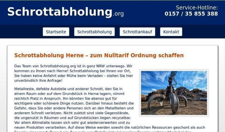 Schrotthändler bieten für den Schrott gutes Geld Schrottabholung in Herne