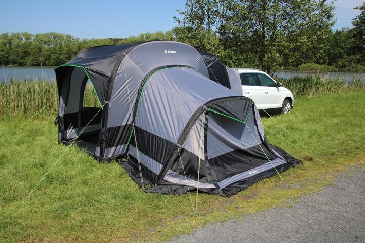 Simply Clever reisen mit dem SKODA Campingzelt