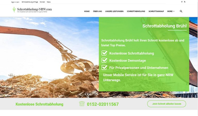 Schrottabholung Brühl:  ein fachkundiges Schrott-Recycling