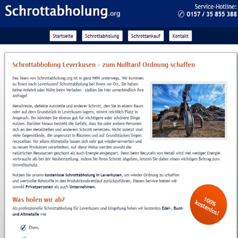 Schrottabholung in Leverkusen einfach unkompliziert Und Zuverlässig