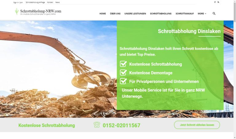 Schrottabholung Dinslaken: Schrotthändler zahlt gutes Geld für Schrott aller Art