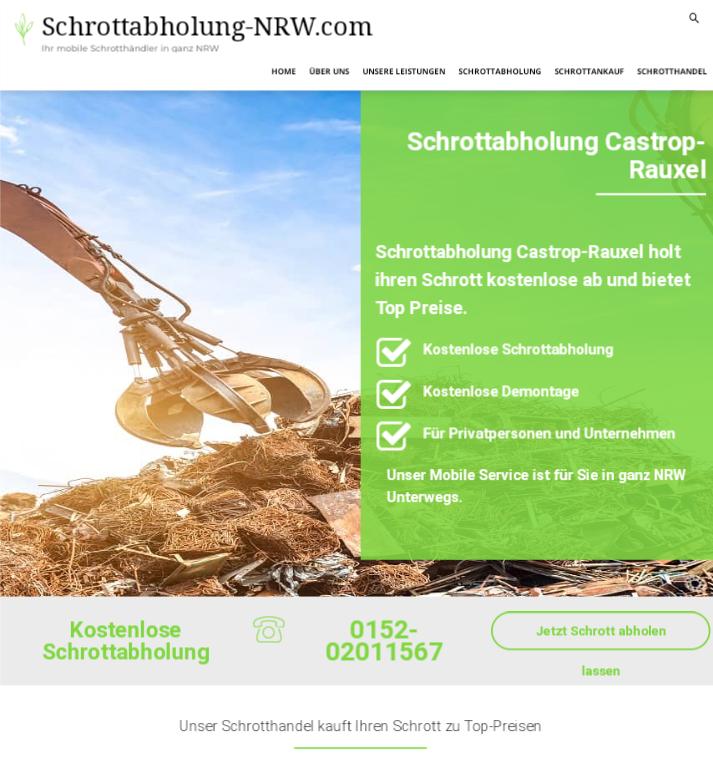 Neben fairen Preisen garantiert der Schrottabholung Castrop-Rauxel ein fachkundiges Schrott-Recycling