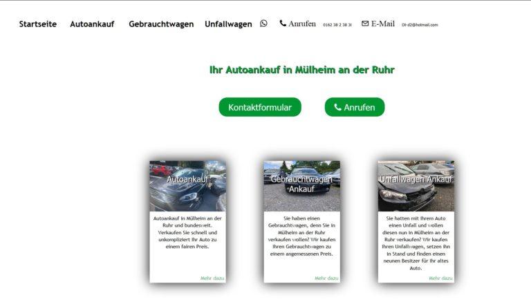 Autoankauf Mülheim an der Ruhr: Überzeugen Sie sich von den fairen Konditionen