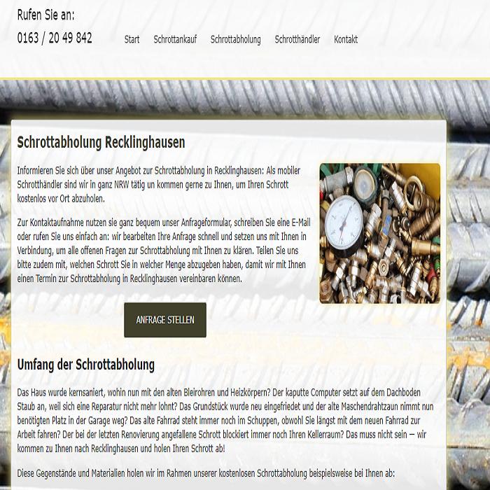 Schrottabholung Recklinghausen leisten Sie damit einen wertvollen Beitrag zum Schutz der Ressourcen