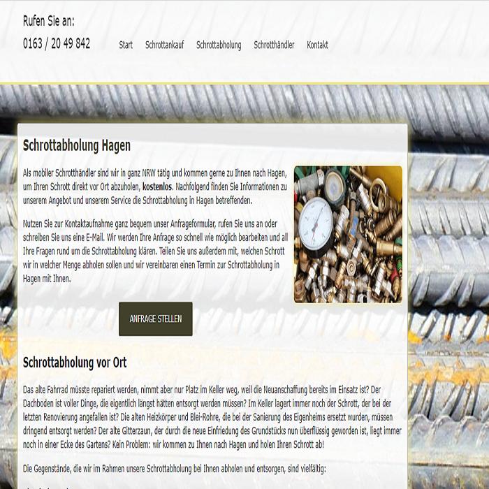 Schrottabholung Hagen – Metall als Rohstoff kann sehr Gut recycelt Werden