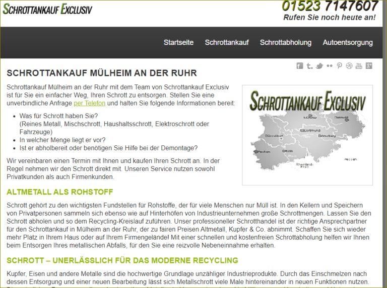 Schrottankauf Mülheim an der Ruhr holt den Metalle schrott ab und bietet fairste Ankaufspreise