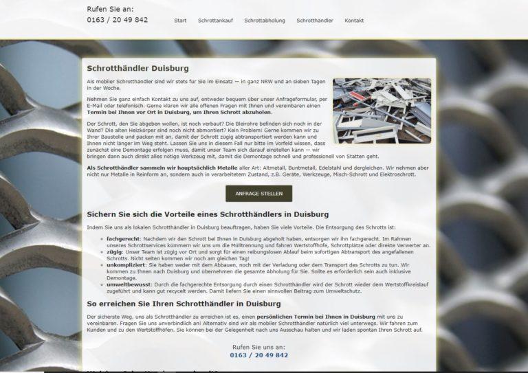 Schrotthändler Duisburg – Schrott entsorgen lassen