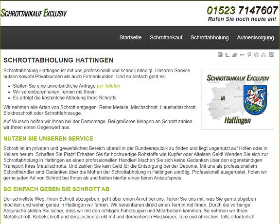 Kostenfreie Schrottabholung Hattingen – Altmetallrecycling in Auftrag geben