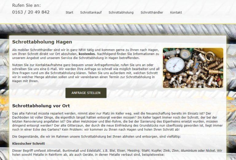 Schrottabholung Hagen – Schrott Entsorgen Lassen