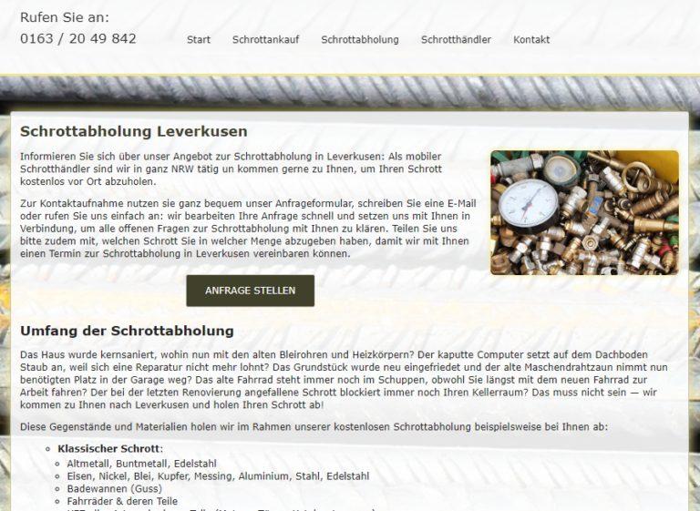 Schrottabholung Leverkusen: Unkompliziert und fair – Schrott-Ankauf-NRW
